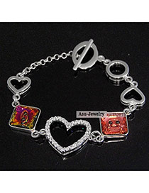Fantastic Red Bracelet Alloy Crystal Brooches