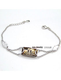 Recycled ChampagneChampagne Twist Buckle Alloy Fashion Bracelets