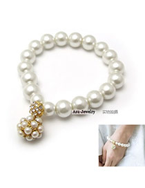 Sanctuary White Small Bead Bead Ball Pearl Fashion Bangles