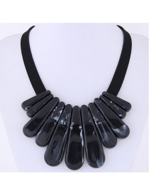 Exaggerate Black Pure Color Decorated Necklace