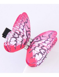 Fashion Plum Red Butterfly Shape Decorated Simple Hair Pin