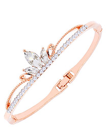 Fashion Rose Gold Crown Shape Decorated Simple Bracelet