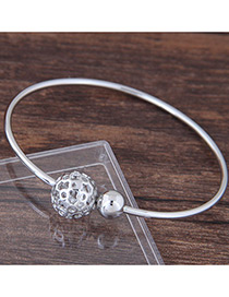 Fashion Silver Color Round Ball Decorated Hollow Out Bracelet
