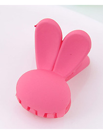 Lovely Watermelon Red Rabbit Shape Decorated Pure Color Hair Claw