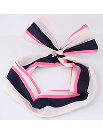Lovely Pink+navy Color-matching Decorated Hair Band