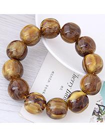 Fashion Coffee Bead Decorated Bracelet