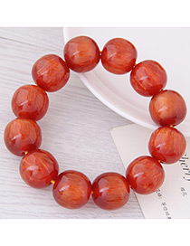 Fashion Red Bead Decorated Bracelet