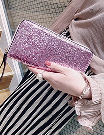 Fashion Pink Square Shape Decorated Wallet