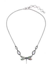Fashion Silver Color Butterfly Pendant Decorated Pure Color Necklace