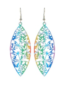 Fashion Multi-color Tree Shape Decorated Hollow Out Pure Color Earrings