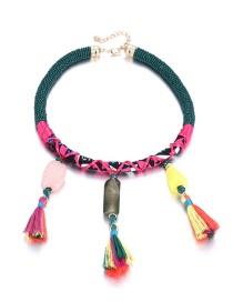 Bohemia Multi-color Tassel Decorated Choker