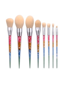 Fashion Multi-color Paillette Decorated Brush (8pcs)