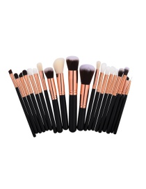 Fashion Black+gold Color Color-matching Decorated Brush (20pcs)