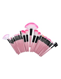 Fashion Pink Color-matching Decorated Brush (32pcs)