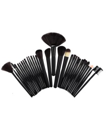 Fashion Black Pure Color Decorated Brush (32pcs)