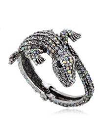 Fashion Silver Color Crocodile Shape Design Simple Bracelet