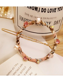 Elegant Pink Round Shape Decorated Hairpin