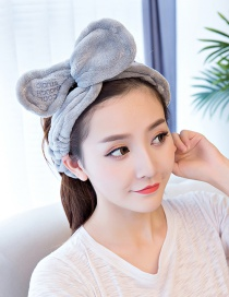 Cute Gray Bowknot Decorated Washing Face Hair Band