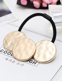 Fashion Gold Color Metal Round Shape Decorated Hair Band