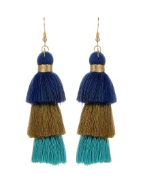 Fashion Multi-color Tassel Decorated Pure Color Earrings