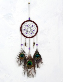 Bohemia Multi-color Peacock Feather Decorated Aeolian Bells