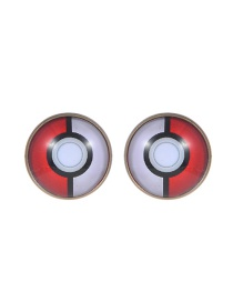 Fashion Red+white Poke Ball Decorated Earrings