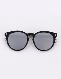 Fashion Gray Color-matching Decorated Sunglasses