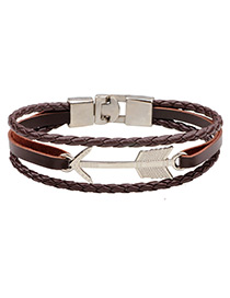 Fashion Brown Arrow Shape Decorated Pure Color Bracelet