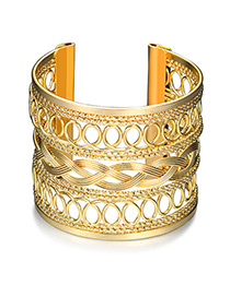 Fashion Gold Color Pure Color Decorated Hollow Out Bracelet