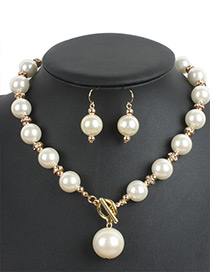 Personality Beige Hollow Out Round Shape Decorated Jewelry Sets