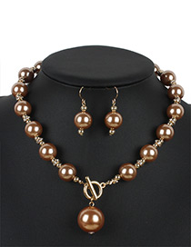 Personality Gold Color Hollow Out Round Shape Decorated Jewelry Sets