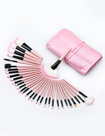 Fashion Pink Color-matching Decorated Brush