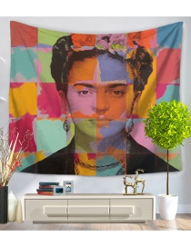 Fashion Multi-color Head Portrait Pattern Simple Blanket
