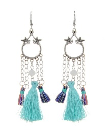 Fashion Blue Bird&tassel Decorated Simple Earrings