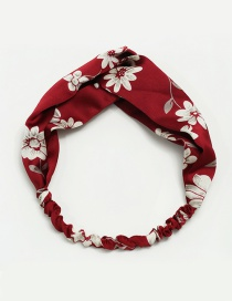Fashion Red Flower Pattern Decorated Simple Hair Hoop