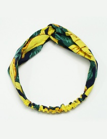 Fashion Yellow Banana Pattern Decorated Hair Hoop