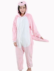 Fashion Pink Dinosaur Shape Decorated Nightgown