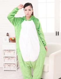 Fashion Light Green Frog Shape Decorated Simple Nightgown