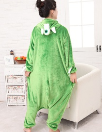 Fashion Green Monocular Blame Decorated Simple Nightgown