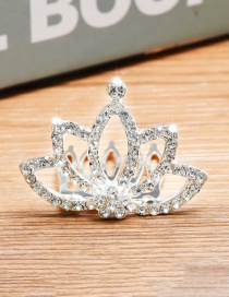 Lovely Silver Color Crown&diamond Decorated Simple Hair Hoop