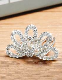 Lovely Silver Color Flower&diamond Decorated Simple Hair Hoop