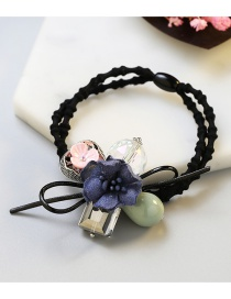 Fashion Navy Flower Shape Decorated Simple Hair Band
