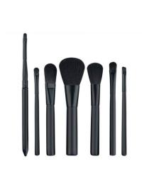 Fashion Black Pure Color Decorated Simple Makeup Brush (7 Pcs)