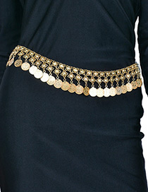 Fashion Gold Color Coins Shape Decorated Simple Body Chain