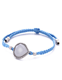 Fashion Blue Water Drop Decorated Simple Bracelet
