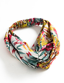 Fashion White+yellow+red Leaf Pattern Decorated Simple Headband