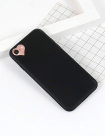 Fashion Black Heart Shape Decorated Simple Iphone7 Case