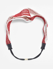Lovely Red Pure Color Decorated Hollow Out Hair Hoop