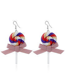 Sweet Multi-color Lollipop Shape Decorated Simple Earrings