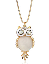 Fashion Gold Color Owl Shape Pendant Decorated Simple Necklace